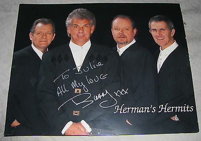 Herman's Hermits Band Signed Autograph 8x10 Press Photo Barry Whitwam to Julie