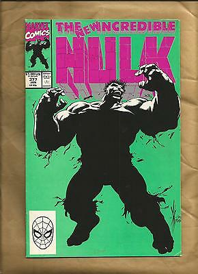 Incredible Hulk 377 fn cents 1991 first new Hulk Dale Keown Marvel Comics