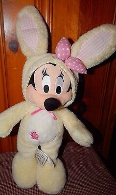 """Retired Minnie Mouse Disney Store Exclusive Plush Yellow Bunny Costume 13"""" Toy"""