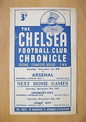 CHELSEA v ARSENAL 1947/1948 *VG Condition Football Programme*