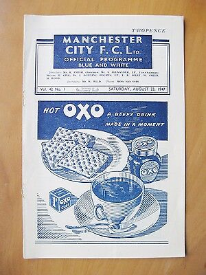 MANCHESTER CITY v WOLVES 1947/1948 *Excellent Condition Football Programme*