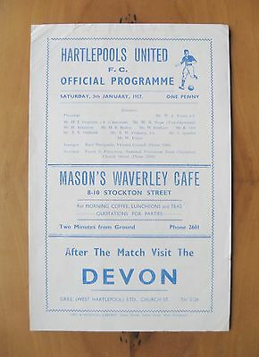 HARTLEPOOL UNITED v MANCHESTER UNITED FA Cup 1956/1957 Reprint