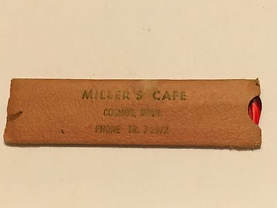 Cosmos Minnesota MILLER'S CAFE VINTAGE ADVERTISING COMB IN HOLDER