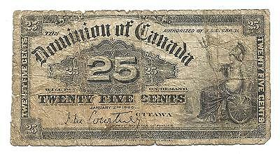 1900 Dominion Of Canada 25 Cent Fractional Banknote - Ottawa