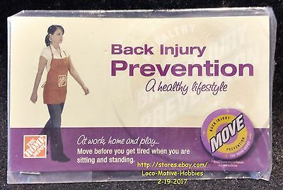 LMH PINBACK Pin  HOME DEPOT Back Injury Prevention  MOVE BEFORE You Get Tired 1""