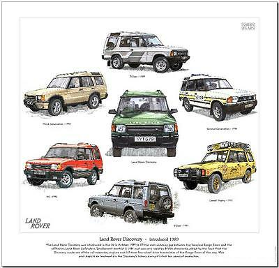 Land Rover Discovery---Car Art Print