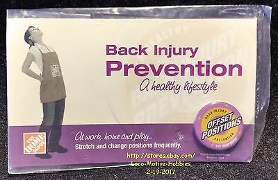 LMH PINBACK Pin  HOME DEPOT Back Injury Prevention OFFSET POSITIONS Employee Ed