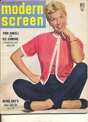 Movie Magazine -Modern Screen 3/55 Doris Day cover