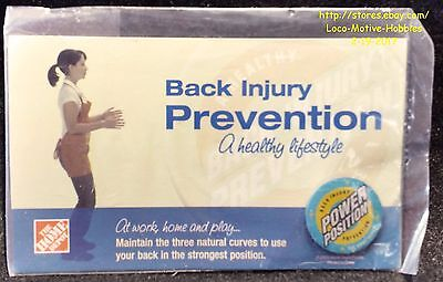 LMH PINBACK Pin  HOME DEPOT Back Injury Prevention  POWER POSITIONS Employee Ed