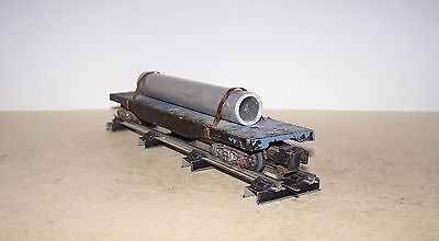 S Scale American Flyer Flat Car With Aluminum Pipe Load Lot B17-10