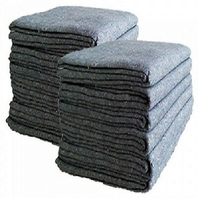 """96 Textile Moving Blankets 54"""" x 72"""" Professional Quality"""