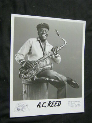 Original 80's A.C. REED Alligator Publicity Photo CHITLIN CIRCUIT