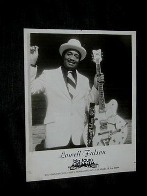 ORIGINAL 70s LOWELL FULSON Big Town Records Promo 8x10 CHITLIN CIRCUIT PRINT