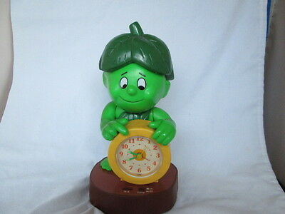 Rare Vintage 1985 Jolly Green Giant Little Sprout Talking Alarm Clock  Works !