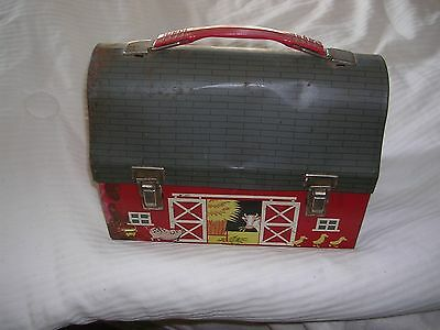 Vintage Metal Barn Lunch Box