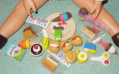"lot 19 Japan food erasers food tools more / 18"" doll size"