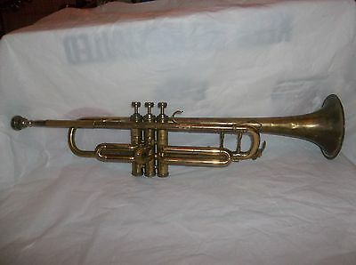 Vintage Brass Trumpet Made In Paris With Mouthpiece