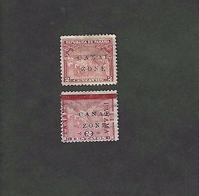 CANAL ZONE sc#10-11 (1904) USED