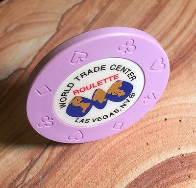 Vintage World Trade Center Casino Lavender Roulette Chip From Las Vegas!