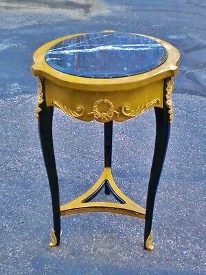 Elegant Maple marble topped Louis XV style SIDE TABLE