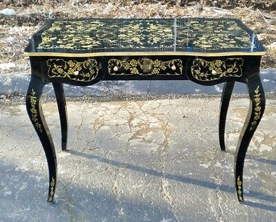 Black and Gold  lady's desk Louis XV style