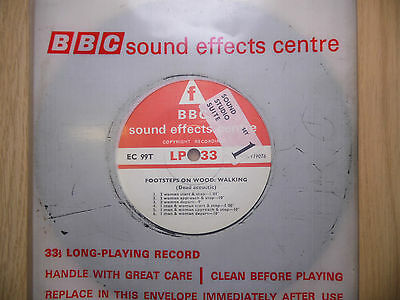 """BBC Sound Effects 7"""" Record - Footsteps on Wood: Walking (Dead Acoustic)"""