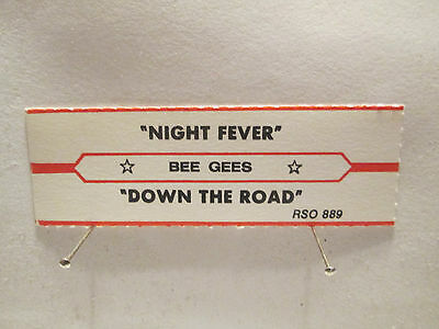 Bee Gees - Night Fever + Down the Road   ( Orig RSO 1977 jukebox strip)