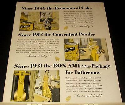 1932 vintage Bon Ami house cleaning Ad