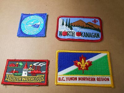 (Sg9-R)  Four Listed Canadian Scout Badges Unused    Canadian Scout Badges