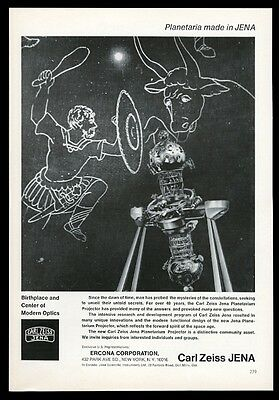 1965 Carl Zeiss planetarium projector photo vintage print ad