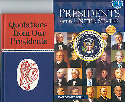 Quotations From Our Presidents 1969, Presidents Of The Us-2009- 2 Books