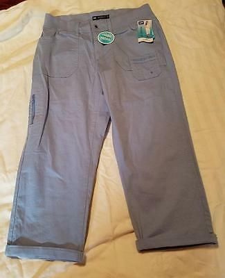 Lee Womens Relaxed Fit Stretch Capri Pants Sz 6 Nwt Retail $48