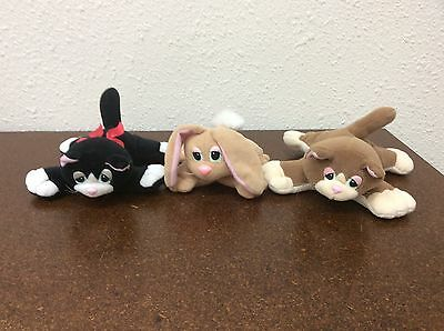 Pound Purries And Bunnies Lot Of 3 Black Brown White Vintage