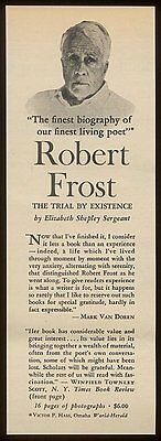 1960 Robert Frost photo biography book print vintage print ad