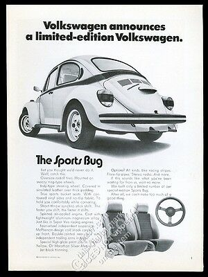 2004 VW Volkswagen Beetle classic car photo The Sports Bug vintage print ad