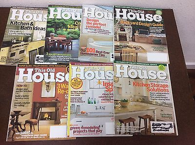 This Old House Magazine Back Issues Lot Of 7