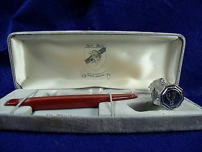 """Modern White Winds Britain Figural Lion """"V"""" Sealing Wax Stamp Seal in Case"""