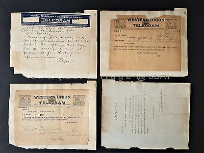 LOT 1921 antique WWI TELEGRAMS MACKEY SOLDIER KILLED fremont oh military letters