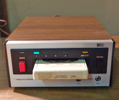 Realistic TR-700 8 Track Stereo Tape Player Recorder Model 14-930 - Working