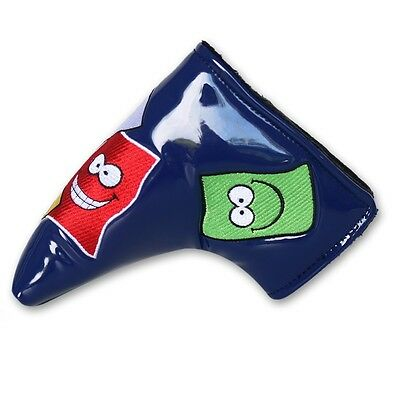 Smile Face Blue Blade Putter cover Headcover For Titleist Scotty Cameron Select