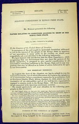 1906 CONGO FREE STATE Alleged Conditions King Leopold II Missionary Testimony