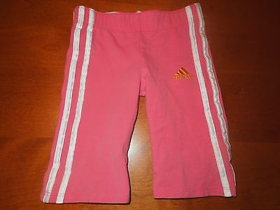 Toddler Girls ADIDAS Capris Pink w/ White Stripes SZ 2T EUC