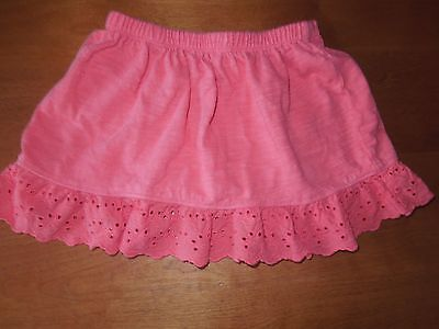 Toddler Girls CRAZY 8 Coral Skirt w/ Scalloped Lace Trim SZ 2T EUC