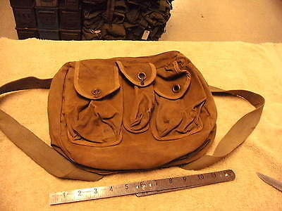 Vintage Canvas Fishing Creel , Last Owner Converted Shoulder Strap in Backpack