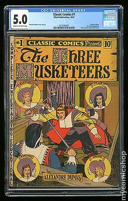 Classics Illustrated 001 The Three Musketeers (1946) #1 CGC 5.0 0016360001