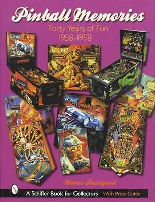 Vintage Pinball Machines 1958-1998 Collector Guide incl Bally Williams Sega More