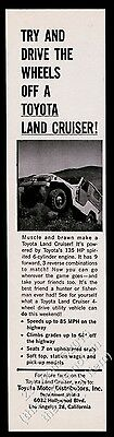 1963 Toyota Land Cruiser photo Try And Drive The Wheels Off vintage print ad