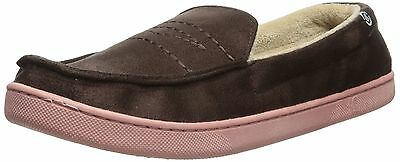 Isotoner NEW Dark Brown Men's Shoes Size XL 11- 12 Moccasin Slippers $38 #314