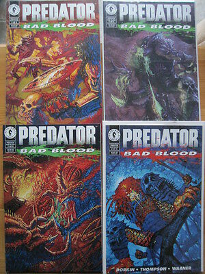 "PREDATOR : ""BAD BLOOD"" - COMPLETE  4 PART MINI SERIES. Dark Horse. 1993"