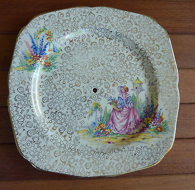 """Vintage H&K Tunstall. """"CRINOLINE LADY"""" Cake Plate - Made in England"""